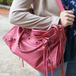 Pink Balenciaga City Bag Medium